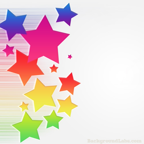 banner stock Pixel vector colourful star. Colorful stars background labs