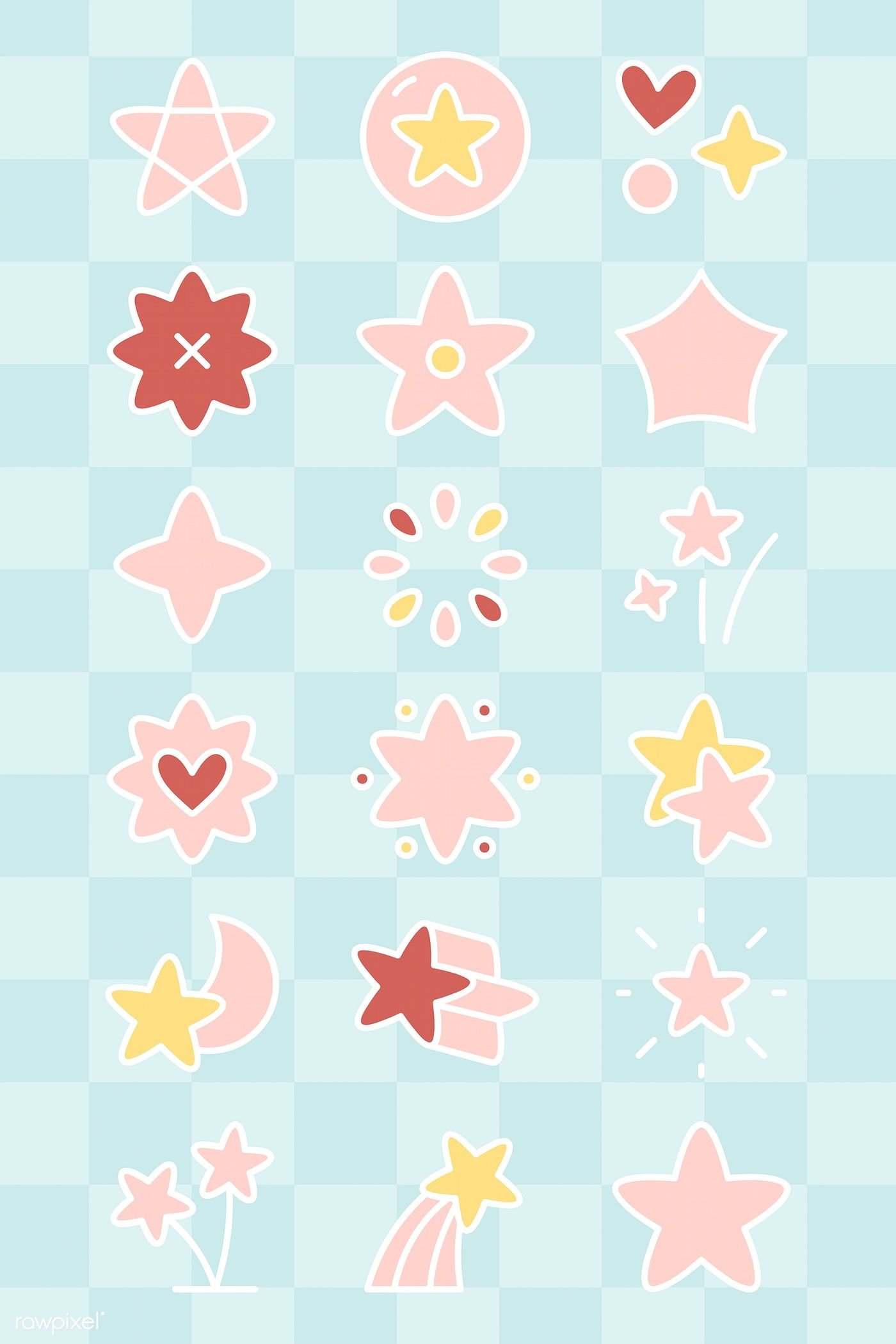graphic freeuse library Download premium of colorful. Pixel vector colourful star