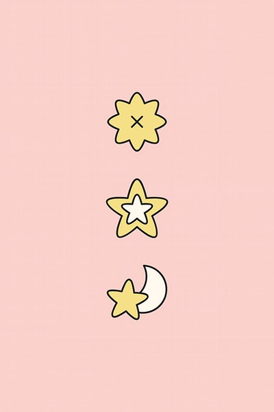 black and white Cute doodle stickers royalty. Pixel vector colourful star
