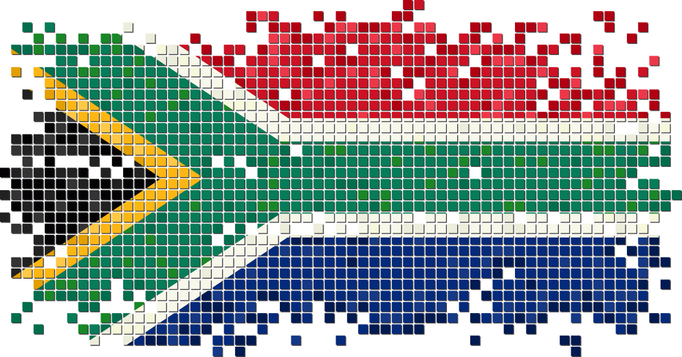 svg black and white download Flag of South Africa Illustration