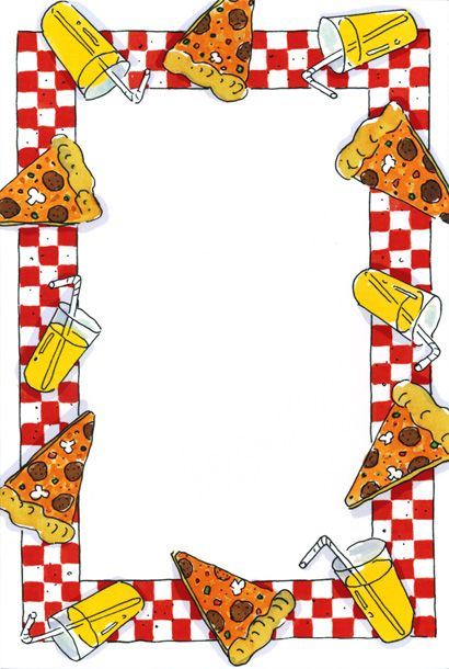 svg black and white stock Pizza border clipart. Party google search clip
