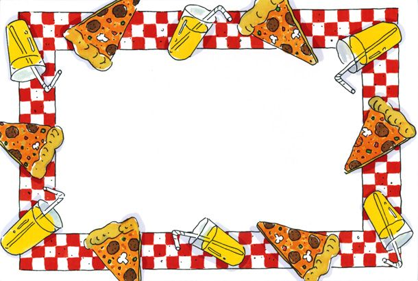 jpg transparent stock Clip art party . Pizza border clipart