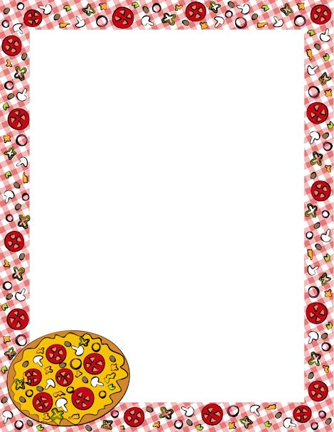 clip art black and white stock Pizza border clipart. Free word cliparts download