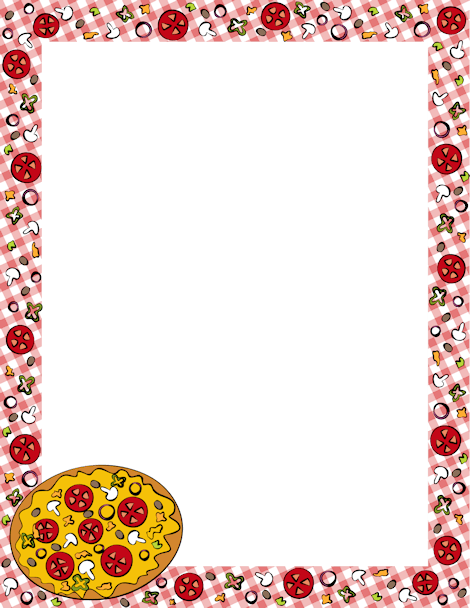 clip art black and white Text box red transparent. Pizza border clipart