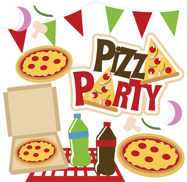 image transparent library Pizza Party Clipart