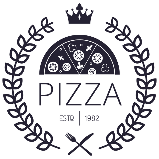 graphic library library Pizza logo with crowns