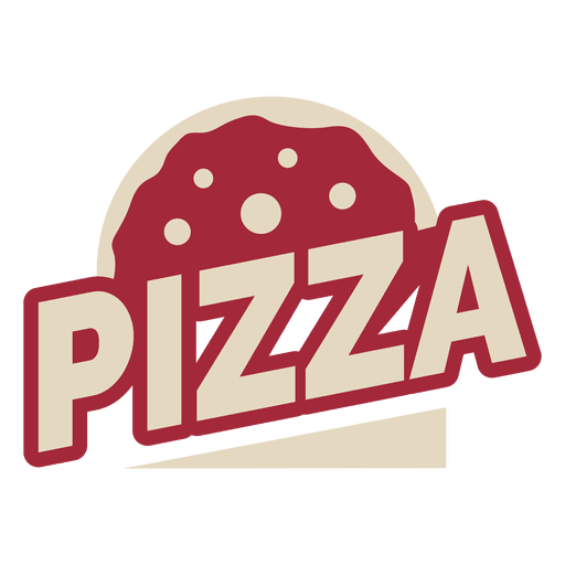 banner transparent stock Pizza logo template