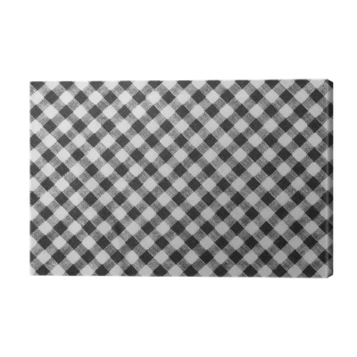png black and white library Black and White Lumberjack Plaid Seamless Pattern Canvas Print