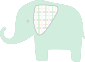 banner transparent stock Plaid Green Elephant Clip Art at Clker