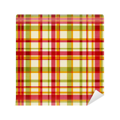 clip freeuse download Bright Plaid Wall Mural