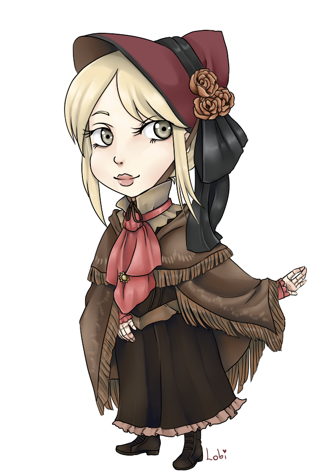 vector royalty free library Chibi doll by lobamagica. Bloodborne drawing anime
