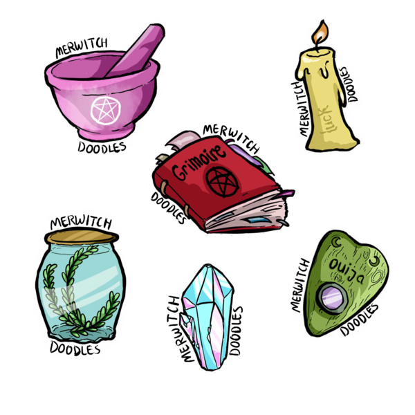 clip freeuse Witchy Stickers