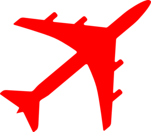 graphic library stock Plane clipart. Red .