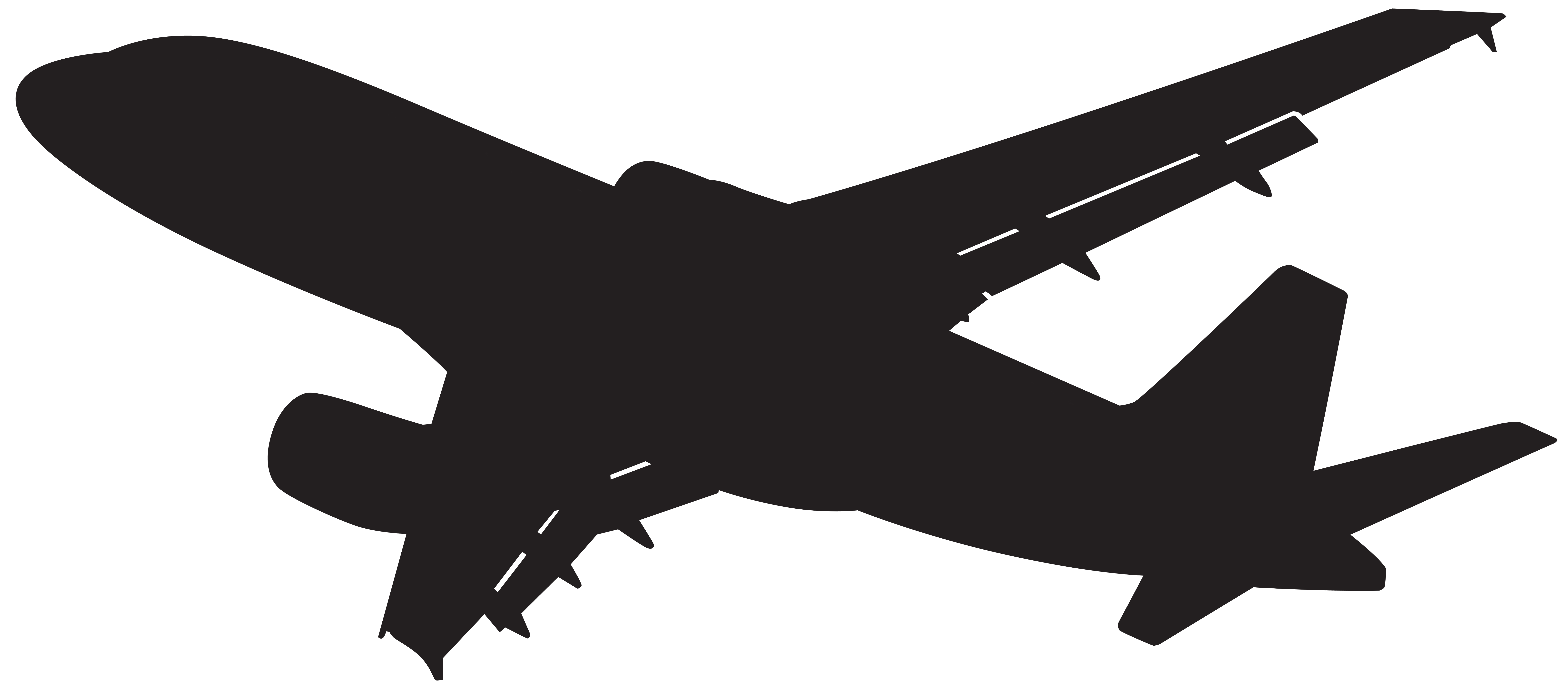 png free library Chic and creative silhouette. Plane clipart.