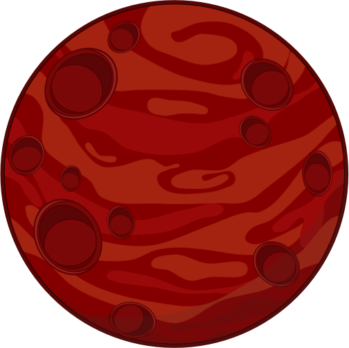 transparent stock Free red clip art. Planet clipart.