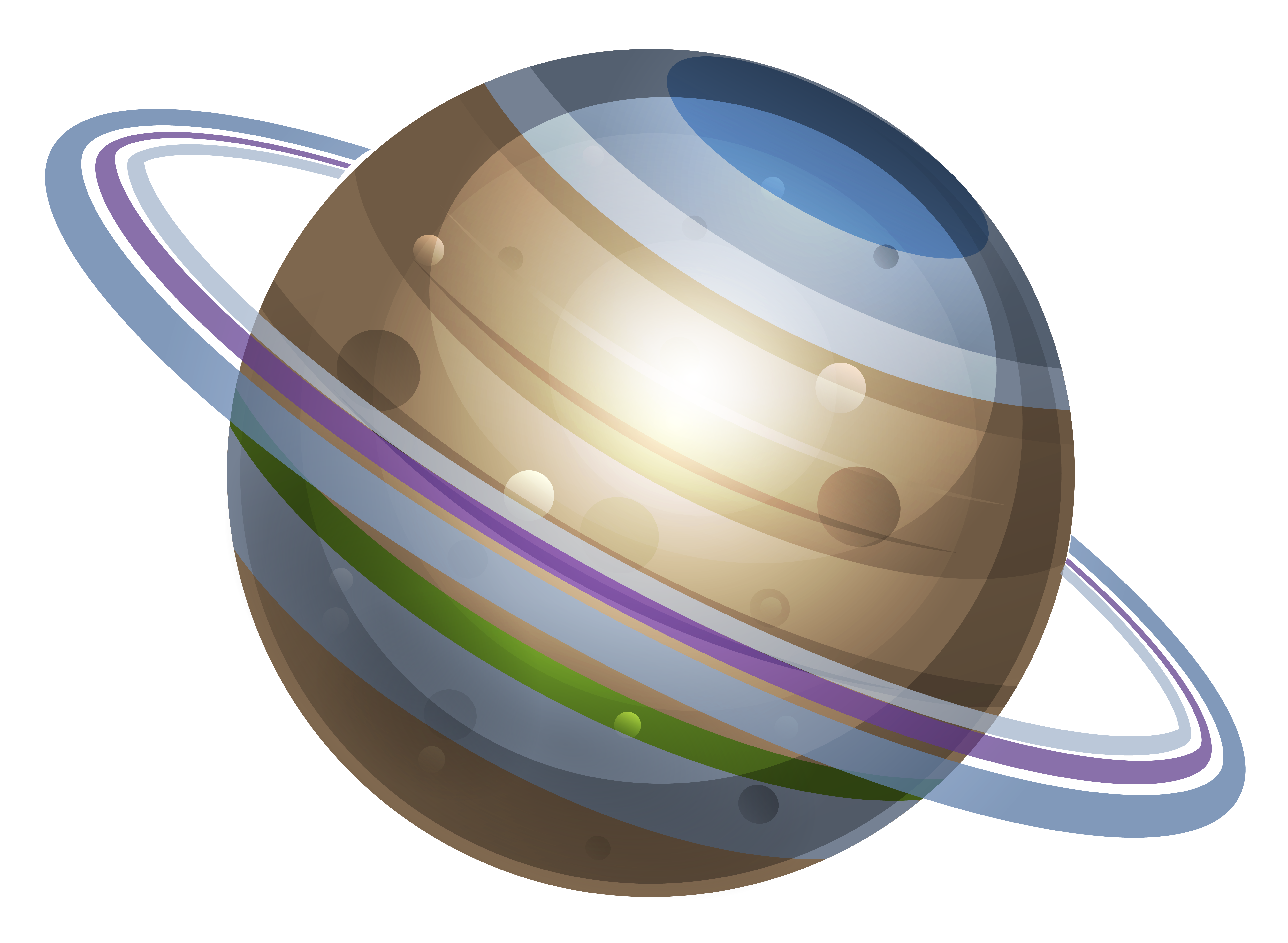 vector royalty free Planeten physic minimalistics co. Planet clipart for kids