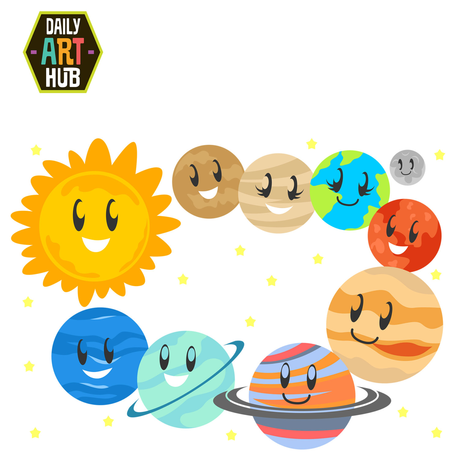 clip art freeuse download Free solar system download. Planets clipart kids