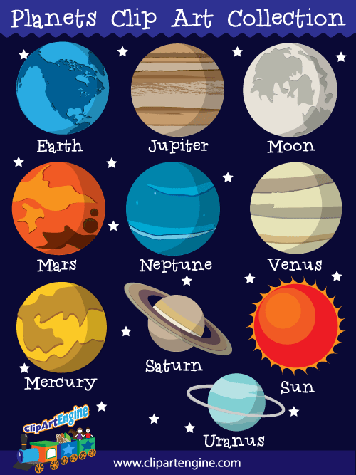 svg royalty free Planets clipart. Our clip art collection.