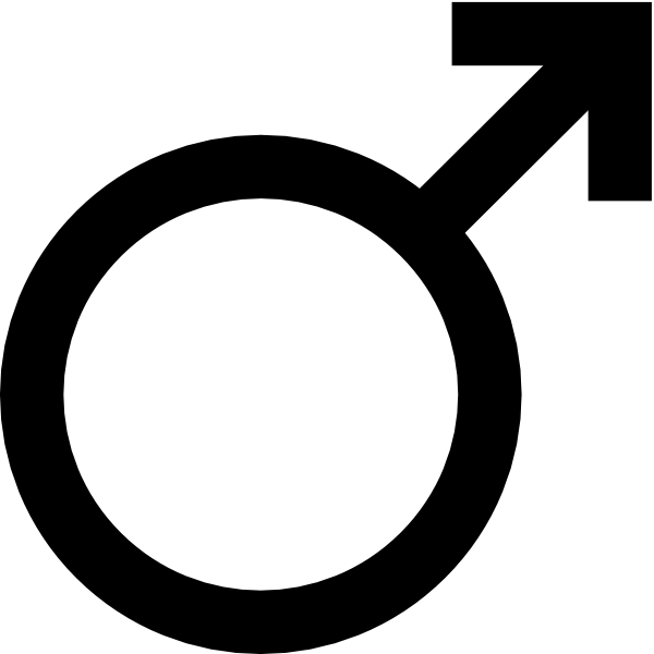 clip black and white Mars Symbol Clip Art at Clker