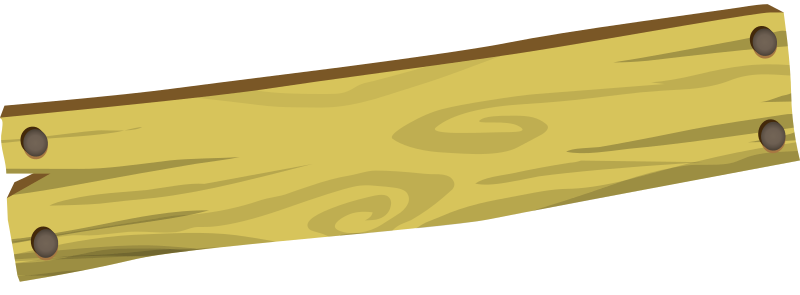 banner black and white Firebog sign blank medium. Plank clipart.