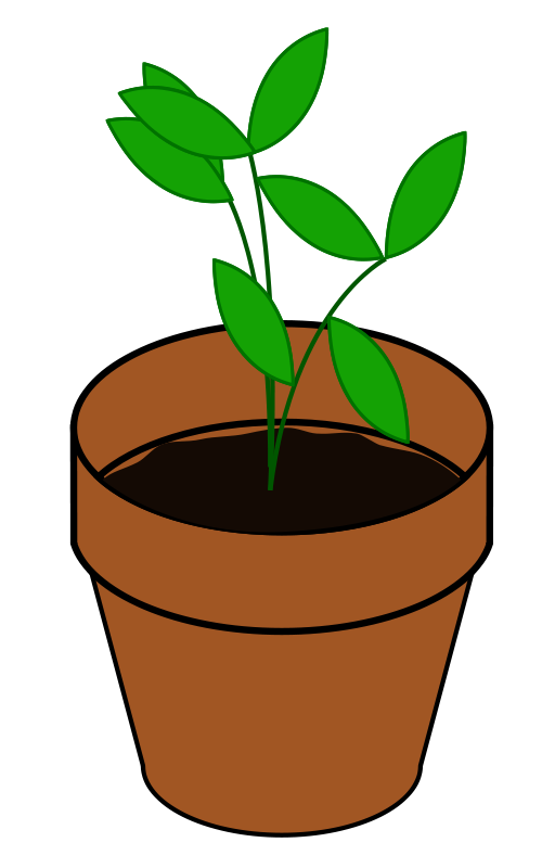 jpg royalty free stock Free cliparts download clip. Planting clipart potted plant.