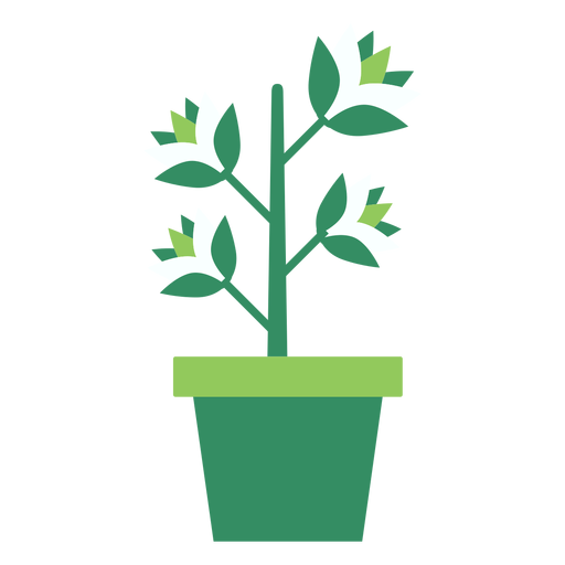 vector library download Green flowerpot with plant clipart