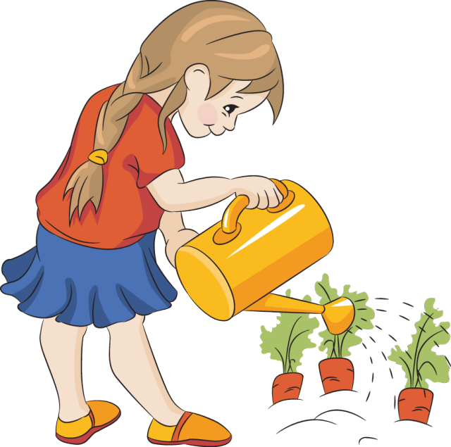 clip  collection of children. Kids plants clipart