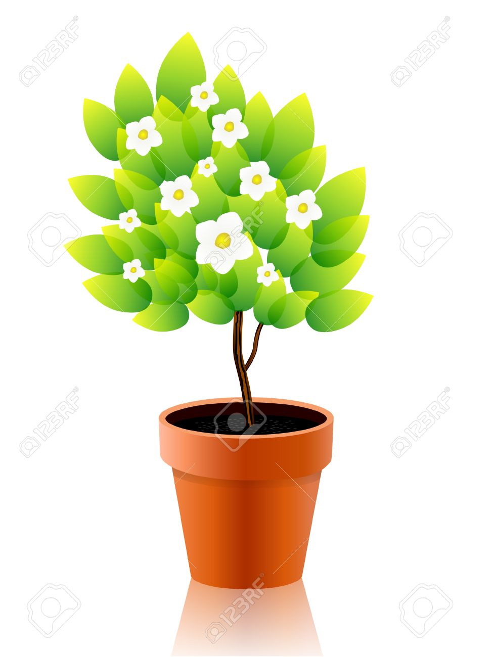 clipart free stock Planting clipart potted plant. .