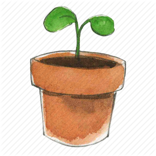 black and white Planting clipart potted plant. Plants flower free on.