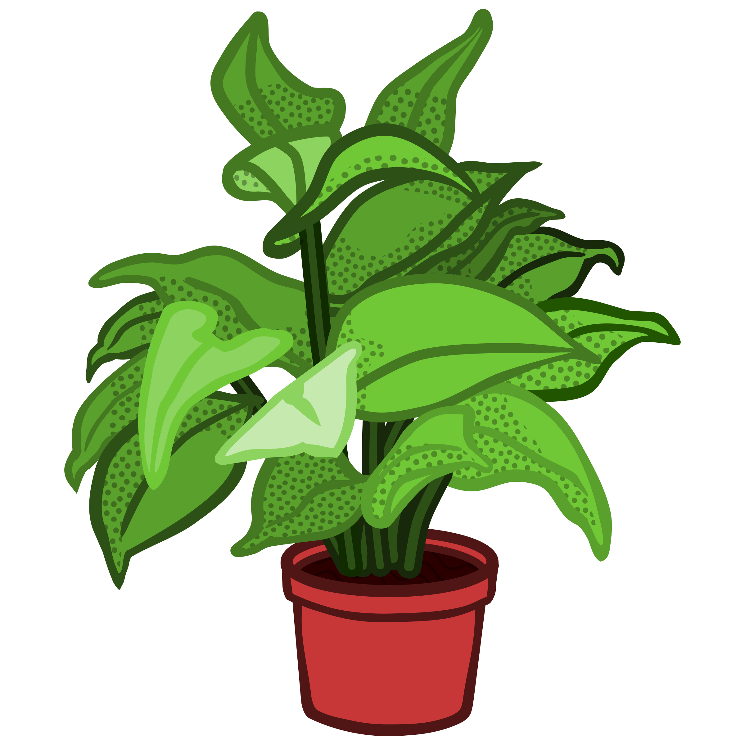 vector freeuse library Pot Plant Clipart planted flower