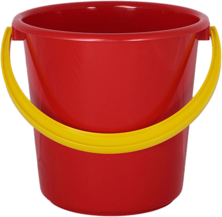 clip art freeuse stock Red Plastic Bucket transparent PNG