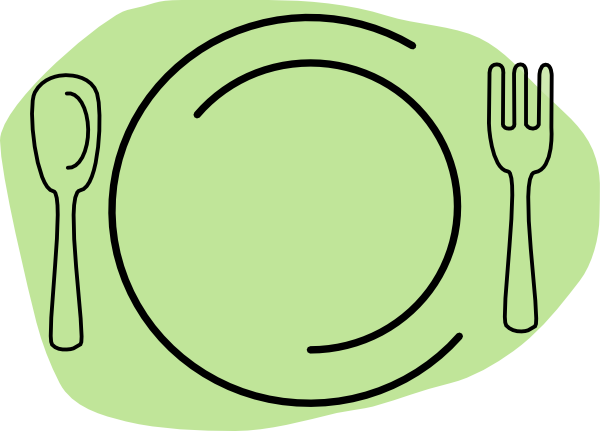 banner freeuse Plate clipart. Dinner blue free on.