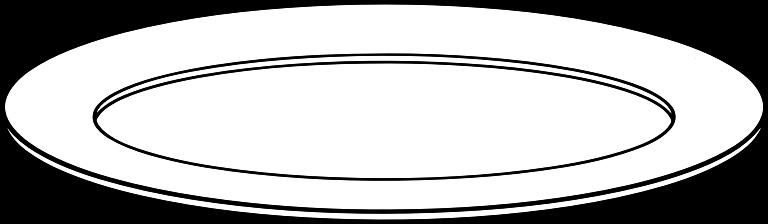 svg transparent download White medium image png. Plate clipart.