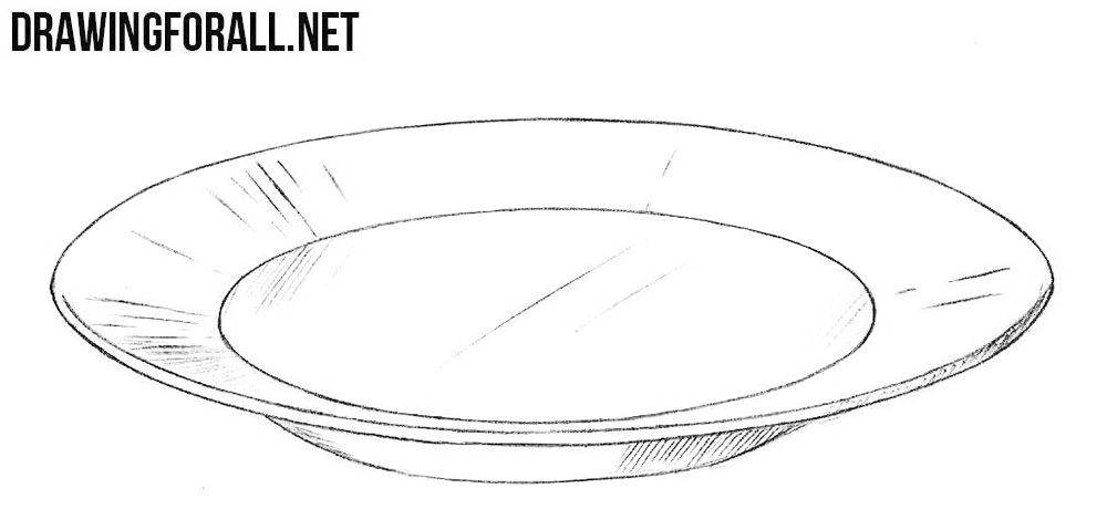 vector freeuse library Plates drawing. How to draw a.