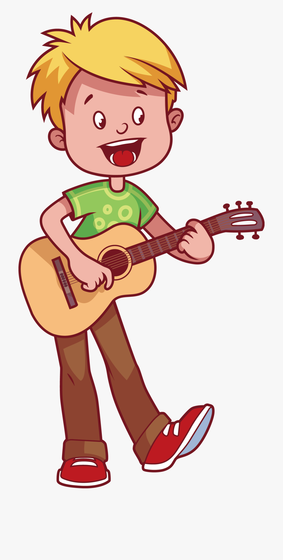 vector Boy playing free cliparts. Play guitar clipart