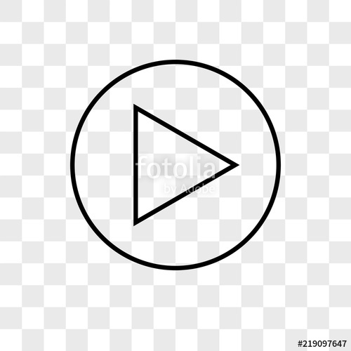 freeuse library Vector button transparent. Play icon on background