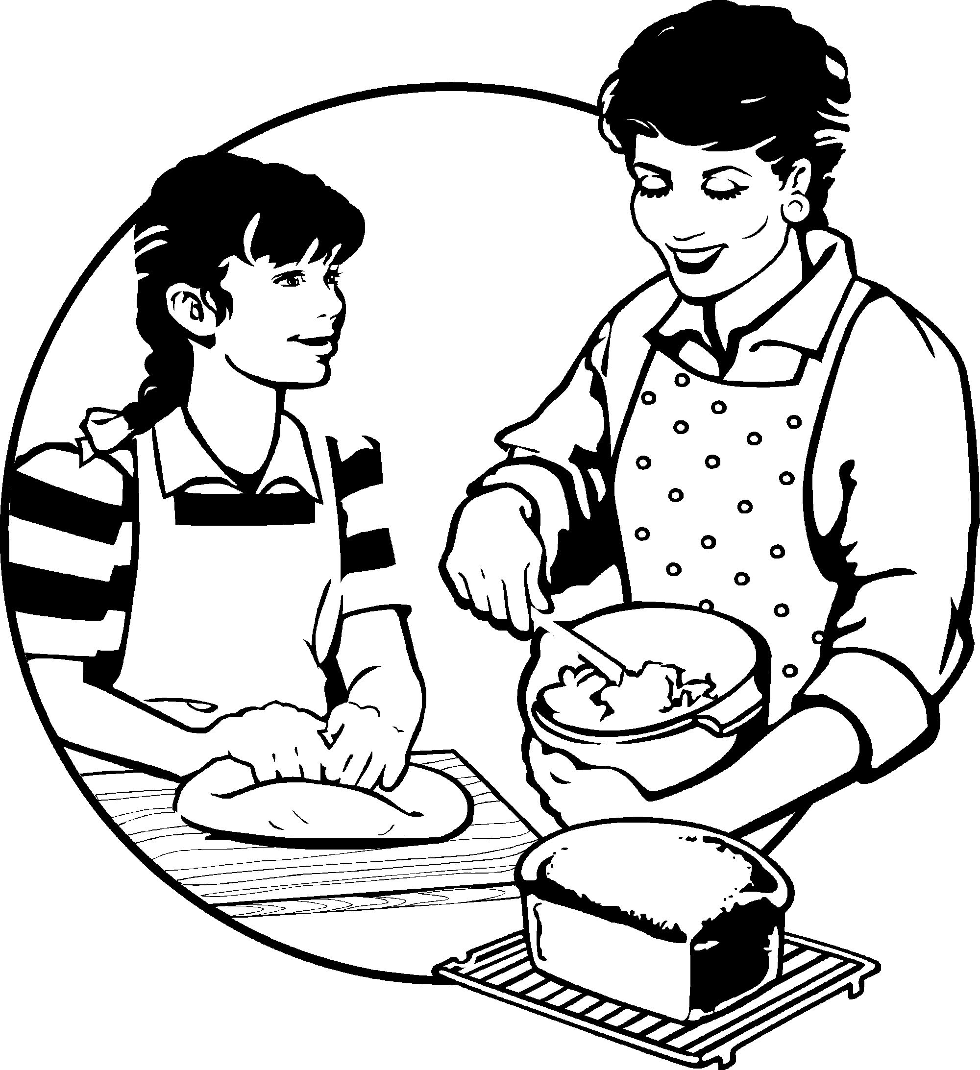 picture black and white Junior chefs recipes by. Baking drawing black and white