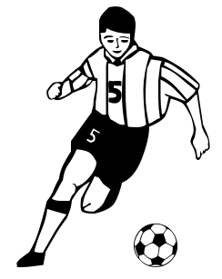 picture freeuse Player clipart. Free soccer cliparts download.