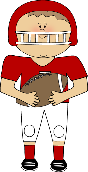 picture free stock Cute Football Player Clipart
