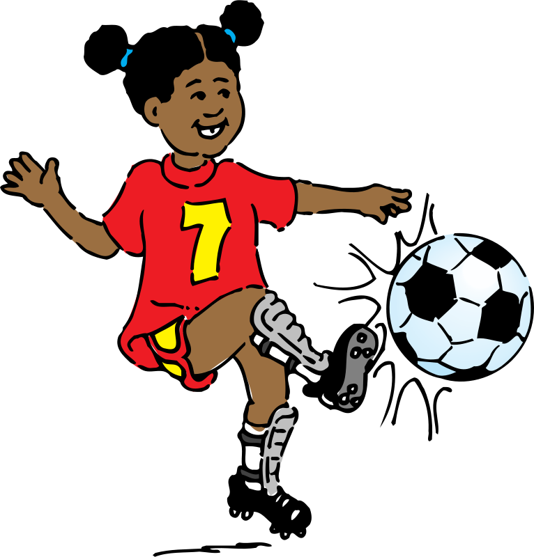 banner black and white stock cool kids playing outside clip art hd Clipart girl playing soccer