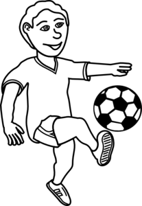 jpg free Miracle of football letters. Player clipart black and white.