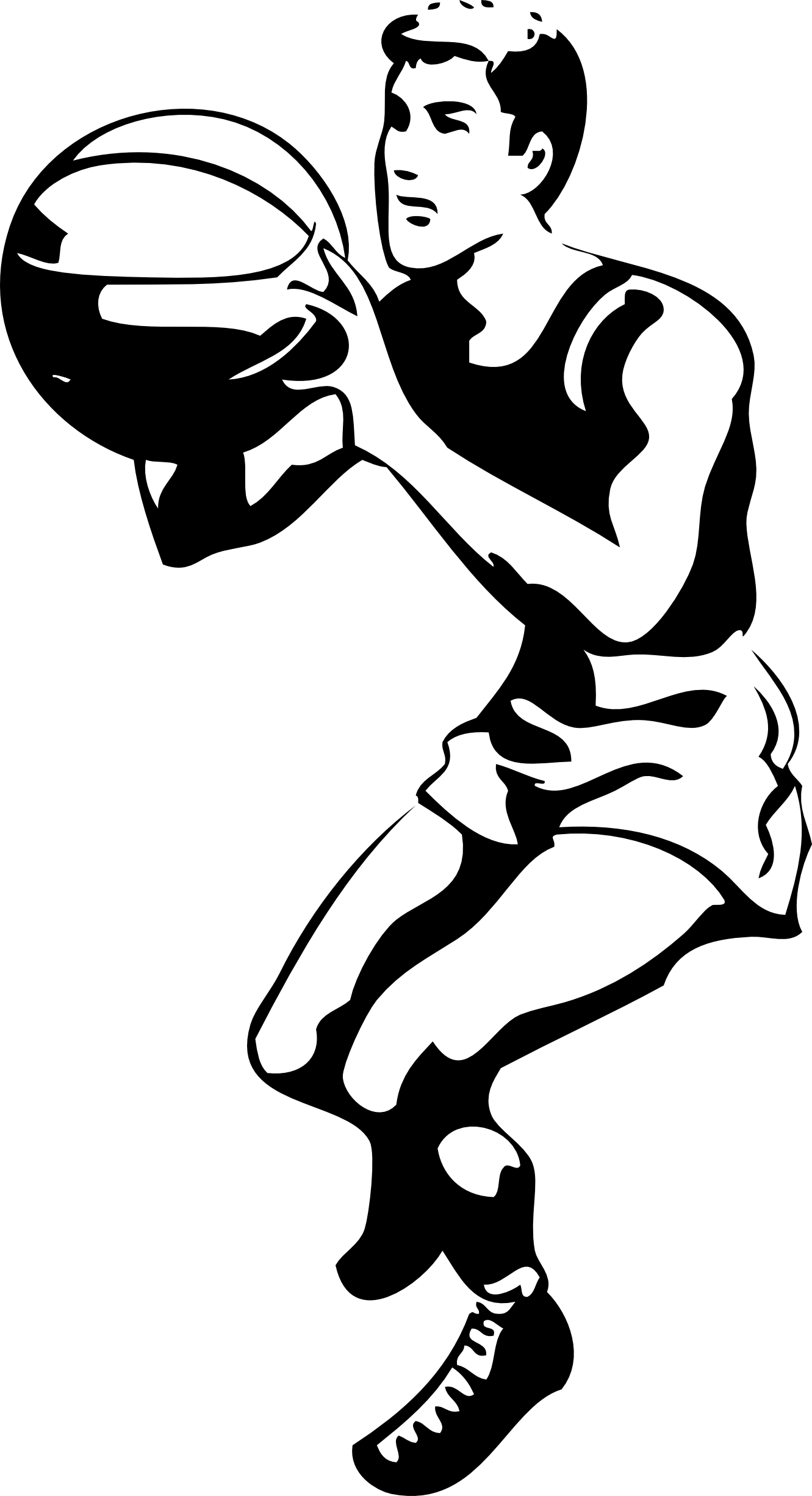 image stock Sport clipart black and white. Basketball player panda free