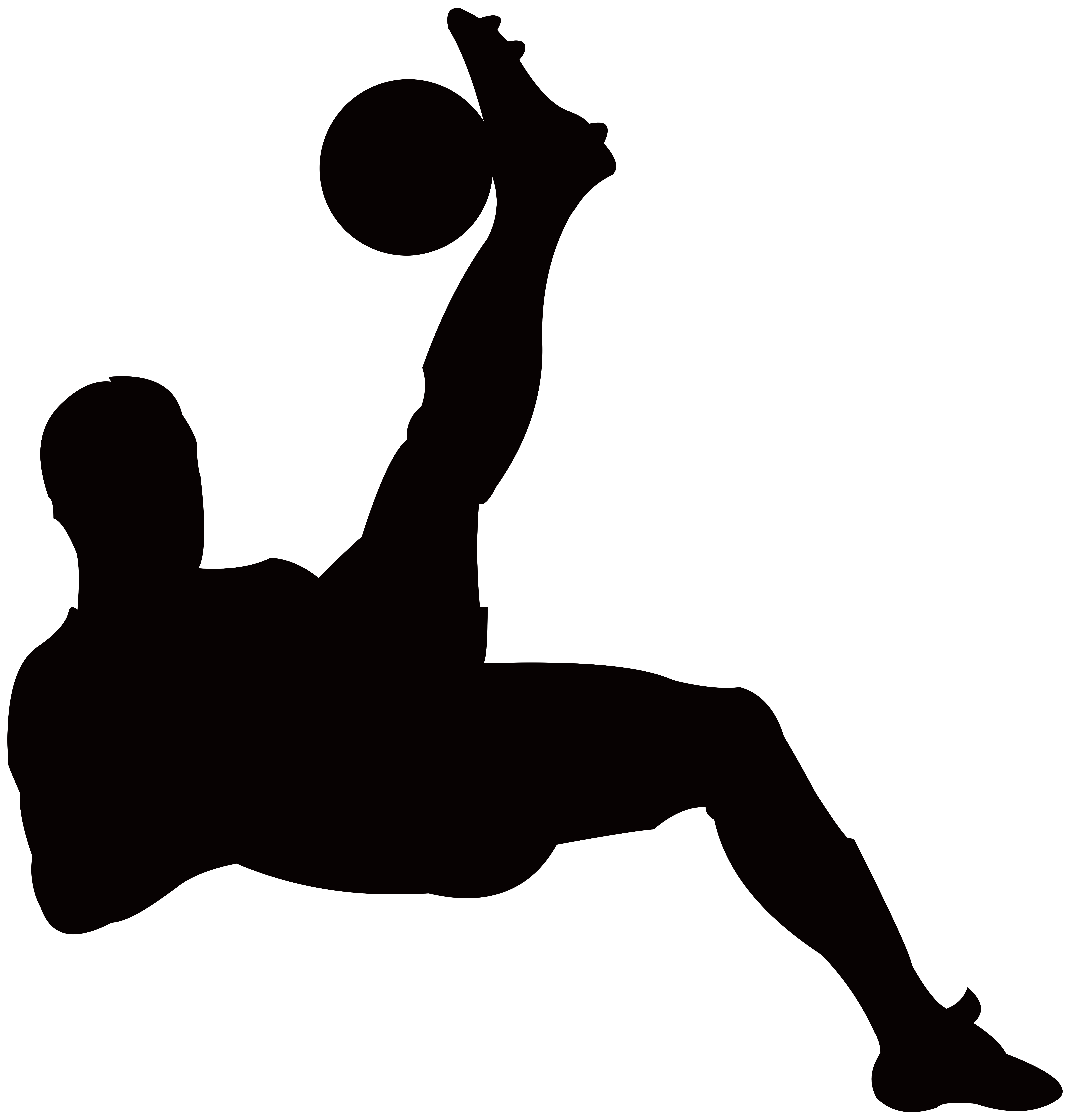 image royalty free library Football Player Silhouette Transparent PNG Clip Art Image