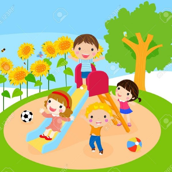 banner free stock Kids playing at school clipart. Cute children illustrations google