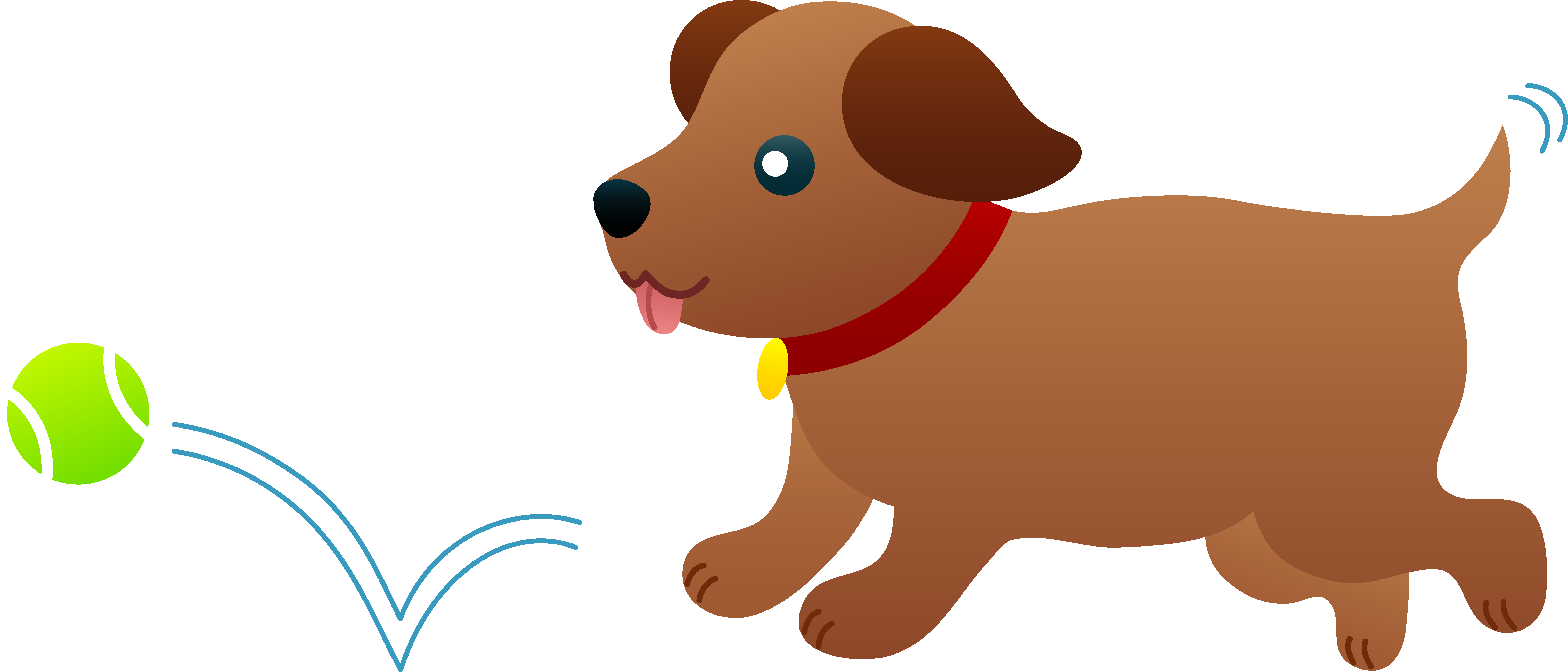 clipart library Dog Playing Clipart