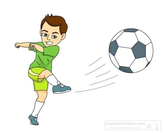 vector royalty free library Playing clipart soccer kick. Images player kicking the