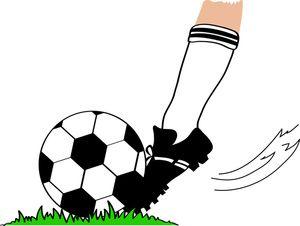 vector free stock Ball image football player. Playing clipart soccer kick