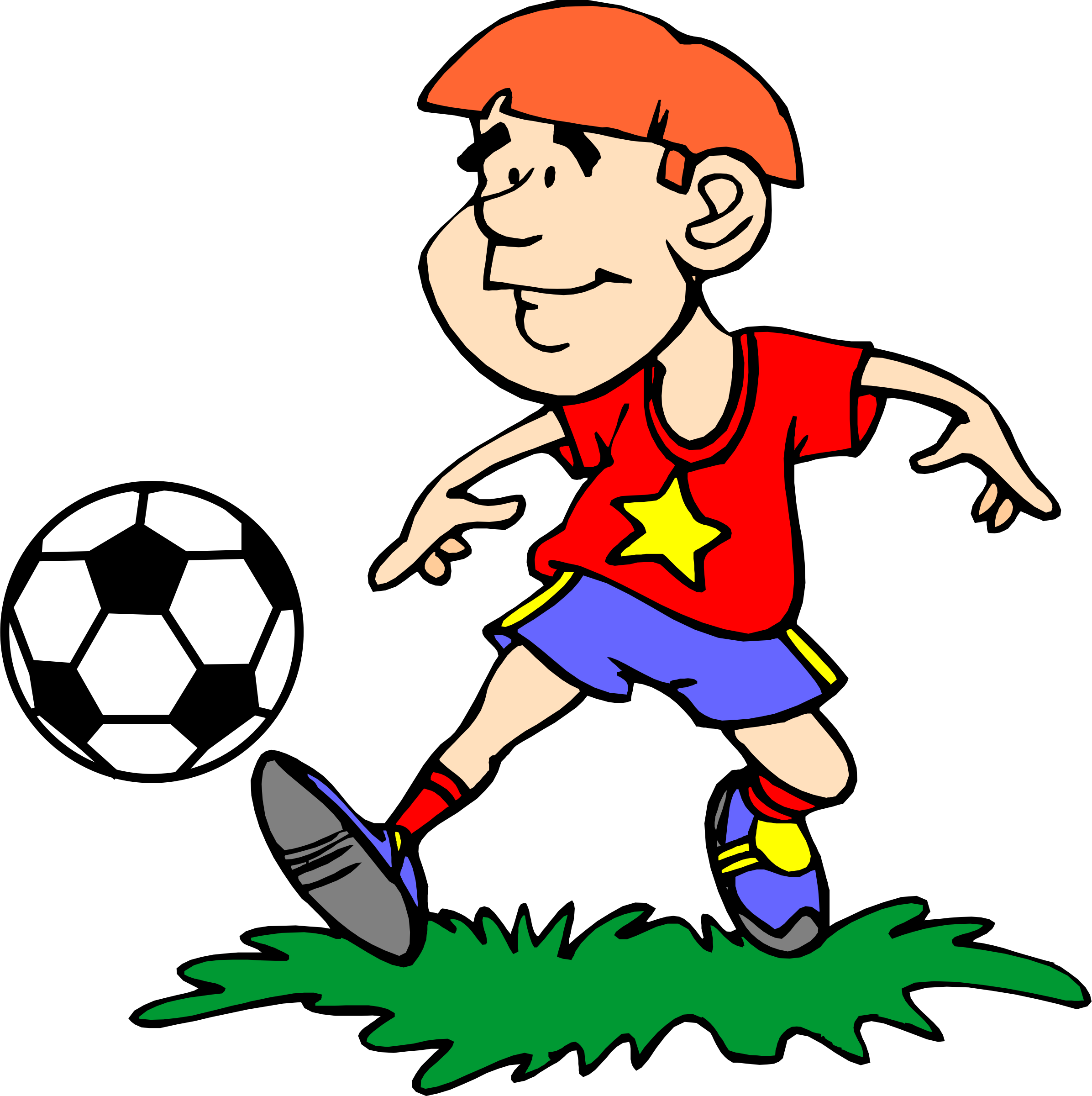 clipart free stock Player big image png. Playing clipart soccer kick
