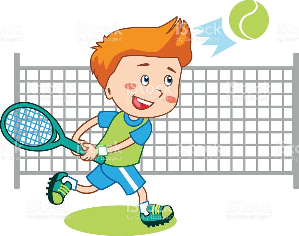 graphic royalty free download  clipartlook. Playing tennis clipart