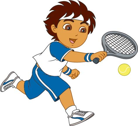 vector free stock Playing tennis clipart. Free cliparts download clip